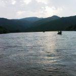 Mit dem Kanu auf dem Orchon